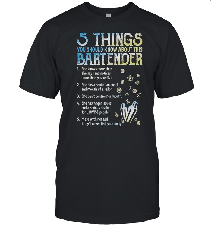 5 Things You Should Know About This Bartender shirt Classic Men's T-shirt