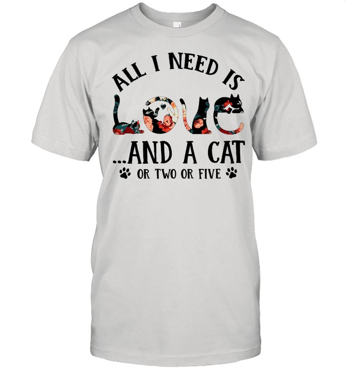 All I need is and a Cat or two or five shirt Classic Men's T-shirt