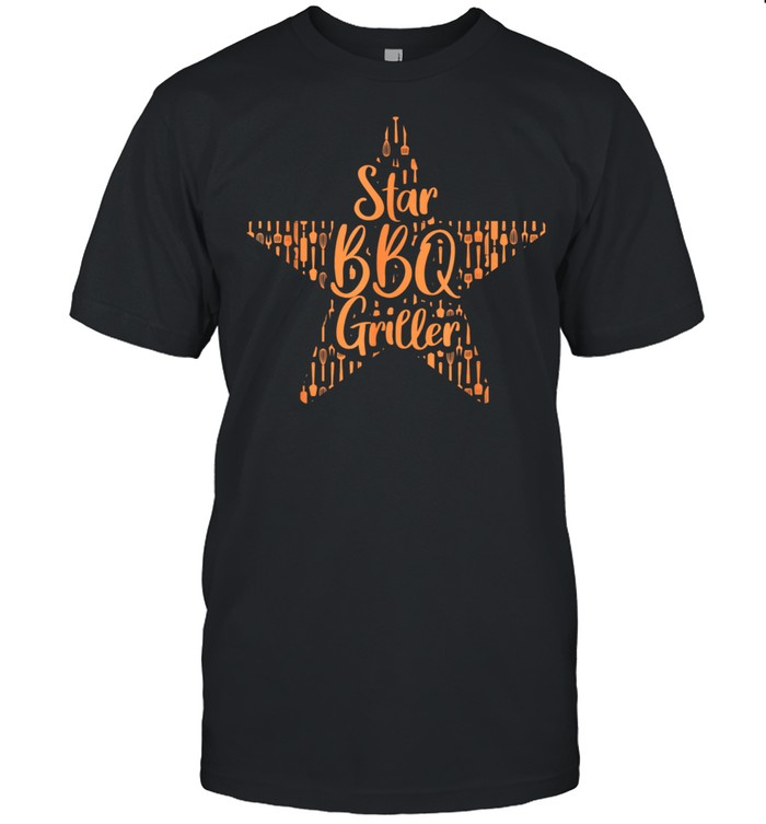 BBQ Grill Grilling Star BBQ Griller Barbecue shirt Classic Men's T-shirt