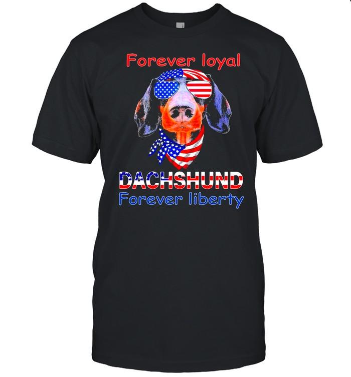 Dachshund forever loyal forever liberty American flag shirt Classic Men's T-shirt