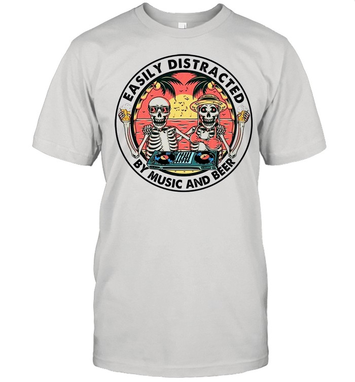 Easily Distracted By Music And Beer shirt Classic Men's T-shirt