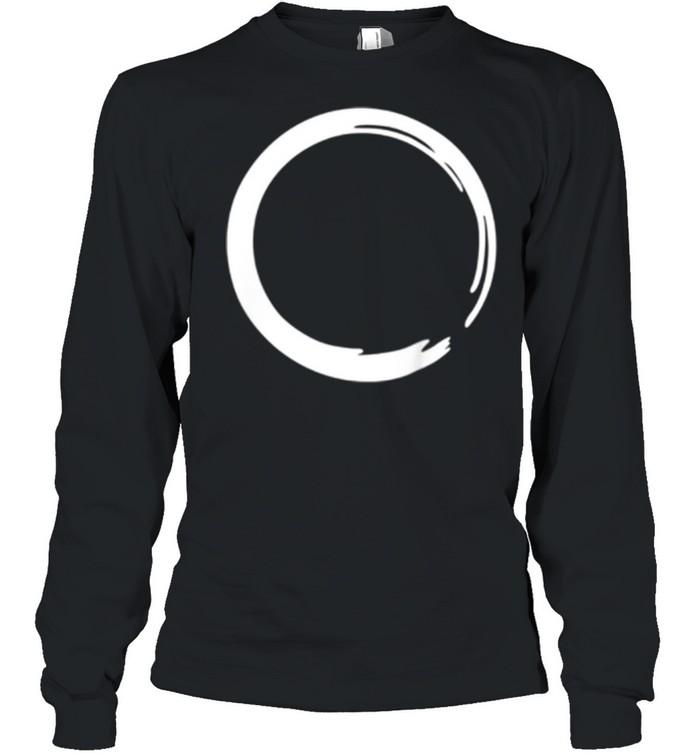 enso zen circle symbol buddhism buddha meditation yoga shirt long sleeved t shirt