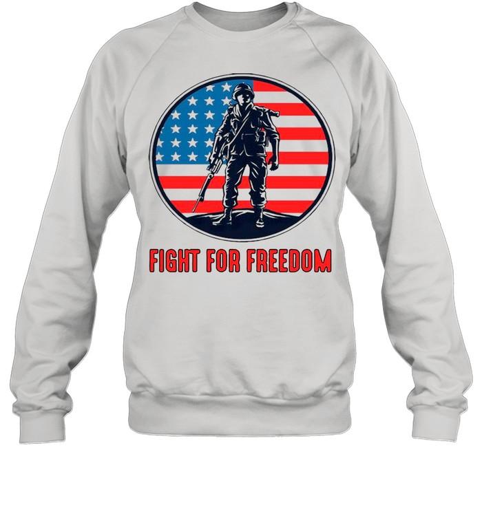 fight for freedom american flag shirt unisex sweatshirt