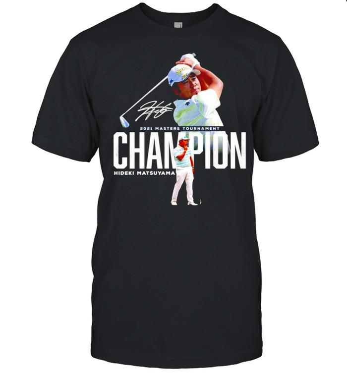 2021 Masters Tournament champion Hideki Matsuyama signature shirt Classic Men's T-shirt