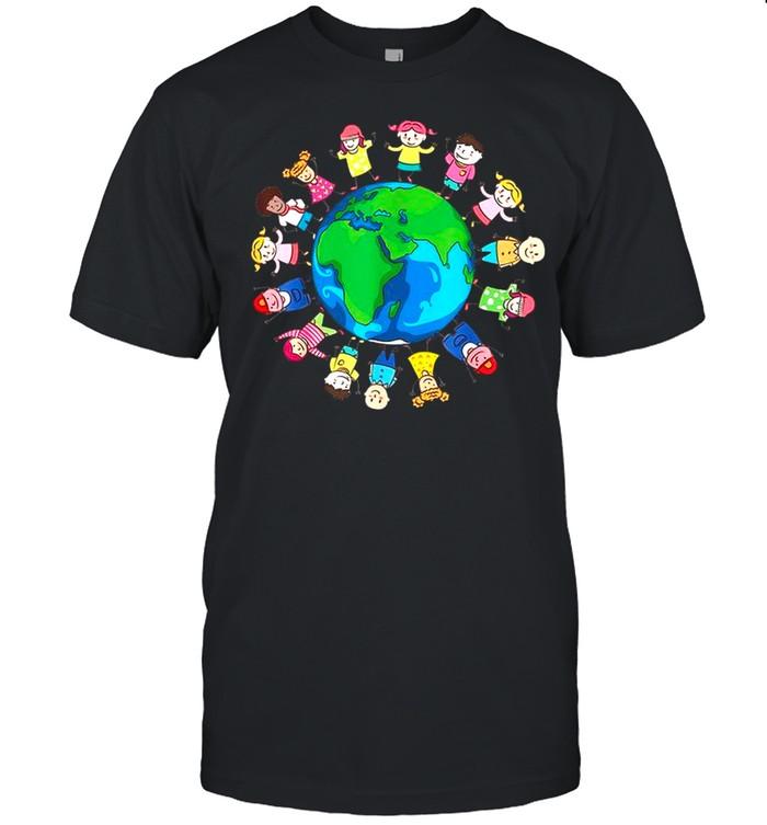 Happy Earth Day Children Around the World Tee shirt Classic Men's T-shirt