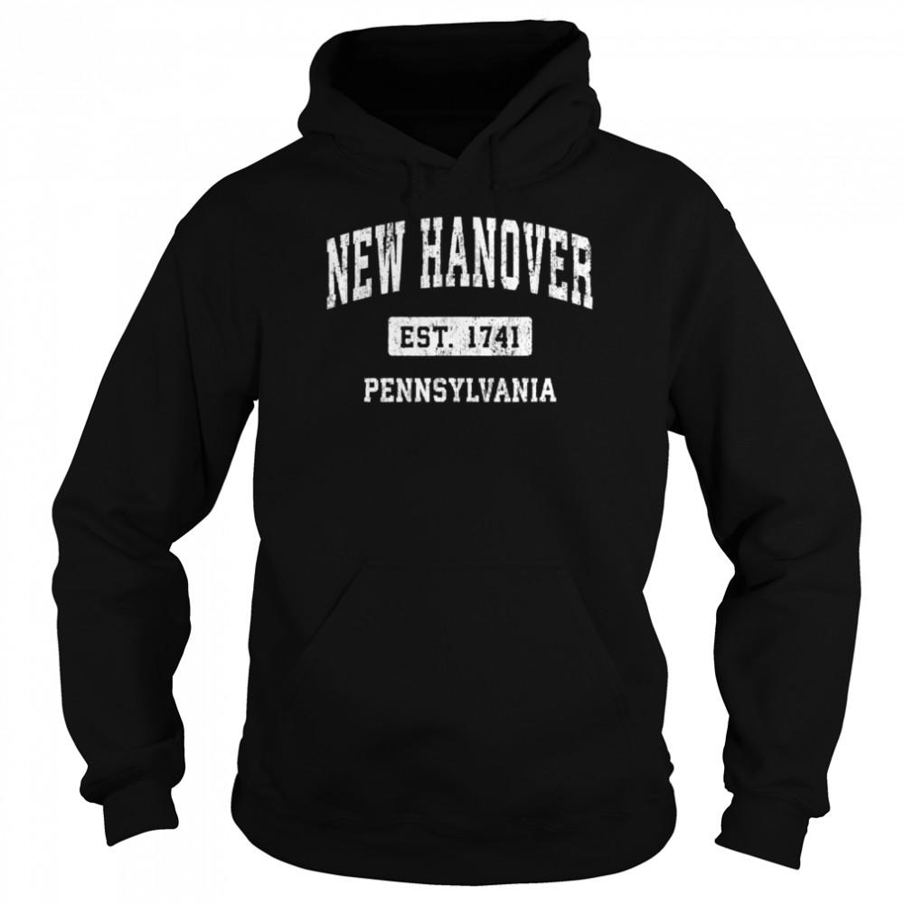 New Hanover Pennsylvania PA Vintage Sports Established Desig shirt Unisex Hoodie
