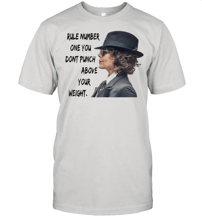 Rule Number One You Don't Punch Above Your Weight Helen Mccrory  Classic Men's T-shirt