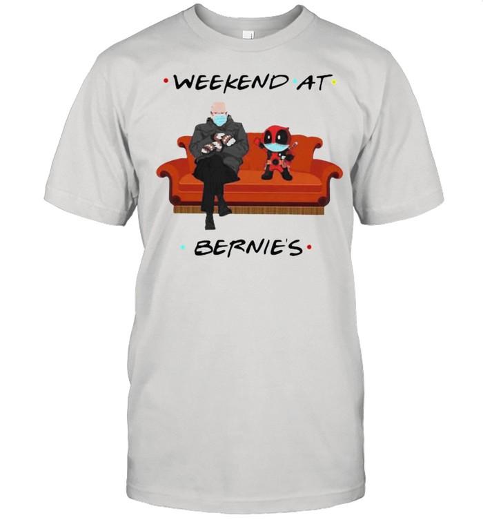 Weekend At Bernies Old Man And Deadpool Wear Mask  Classic Men's T-shirt