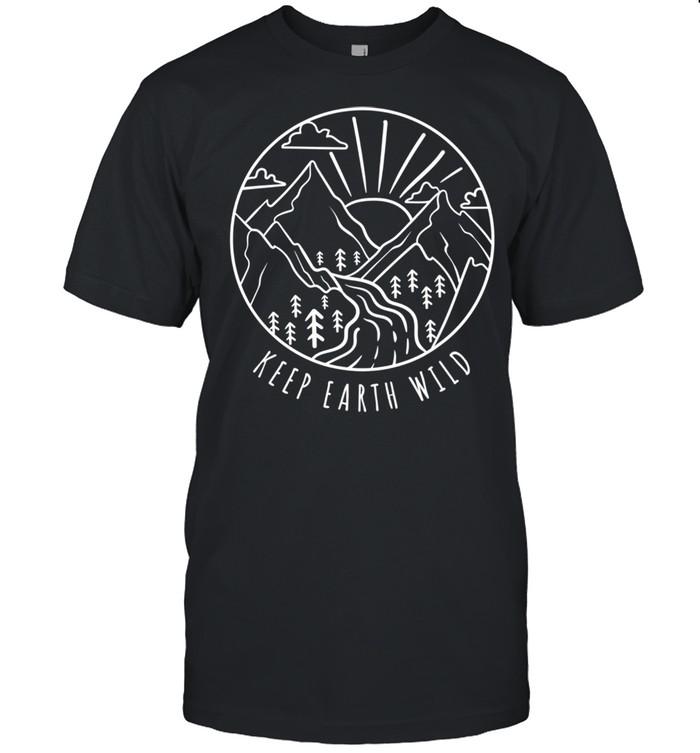 Keep Earth Wild Clothing Climate Change Global Warming shirt Classic Men's T-shirt