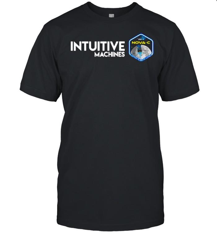 Intuitive Machines 1 Mission Glitch Artwork Classic Men's T-shirt