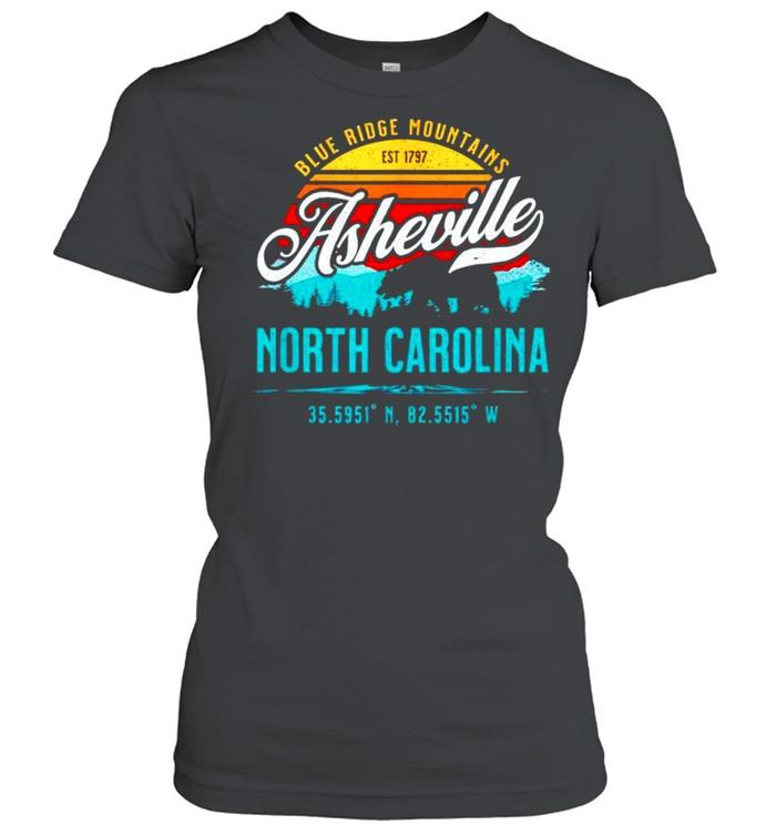 Blue ridge mountains est 1797 asheville North Carolina shirt Classic Women's T-shirt