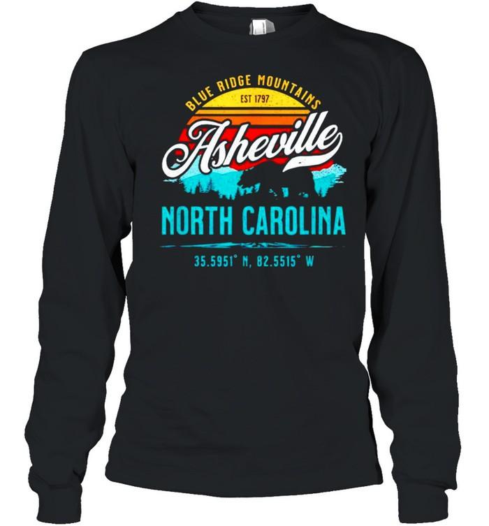 Blue ridge mountains est 1797 asheville North Carolina shirt Long Sleeved T-shirt