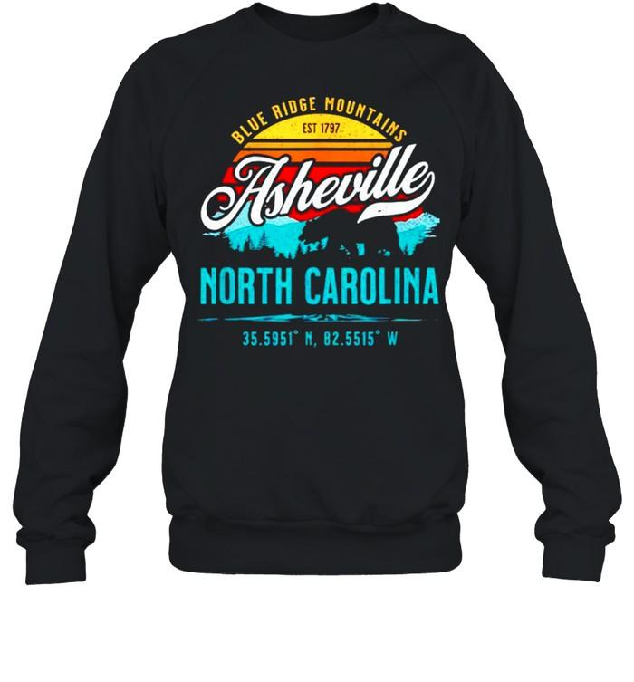 Blue ridge mountains est 1797 asheville North Carolina shirt Unisex Sweatshirt