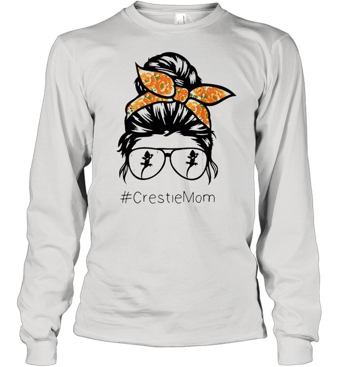 crested gecko mom gecko lover cute crestie reptile mom shirt long sleeved t shirt