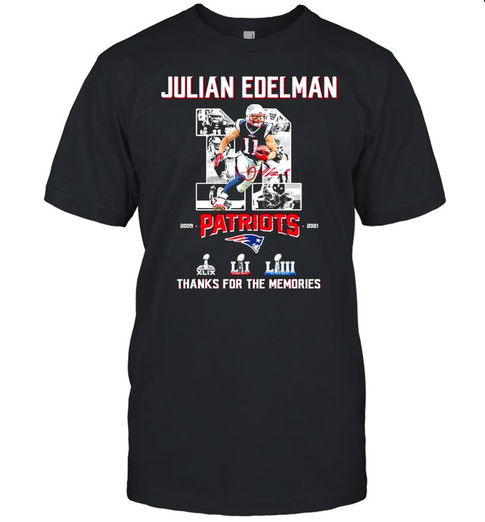 11 Julian Edelman Patriots Thanks For The Memories  Classic Men's T-shirt