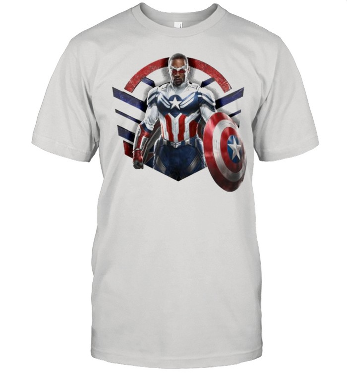Marvel The Falcon the Winter Soldier Captain America Strong  Classic Men's T-shirt