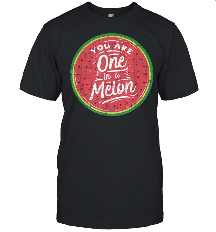 You Are One In A Melon Watermelon Tropical Fruit shirt Classic Men's T-shirt