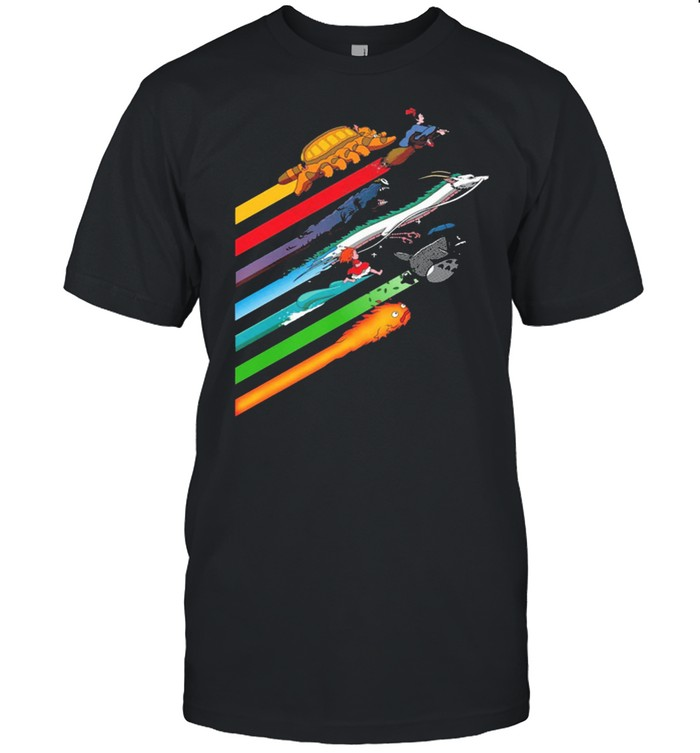 Rainbow studio ghibli shirt Classic Men's T-shirt