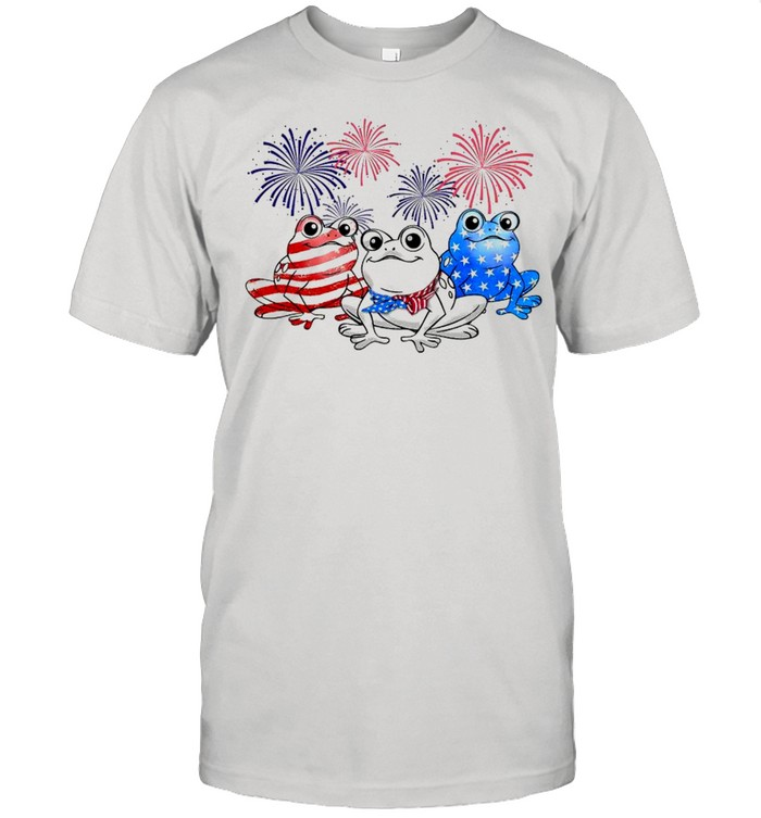 Frog American Flag 4th Of July Independence Day  Classic Men's T-shirt