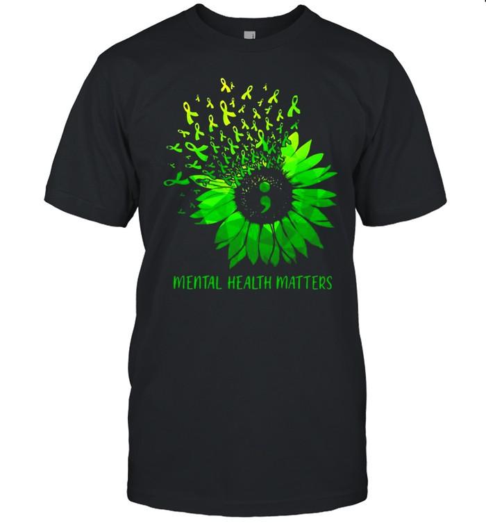 Mental Health Matters Sunflower Shir Classic Men's T-shirt