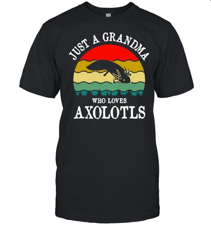 Just A Grandma Who Loves Axolotls Vintage T-shirt Classic Men's T-shirt