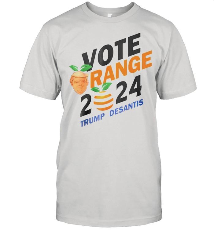 Vote Orange Trump DeSantis 2024 shirt Classic Men's T-shirt