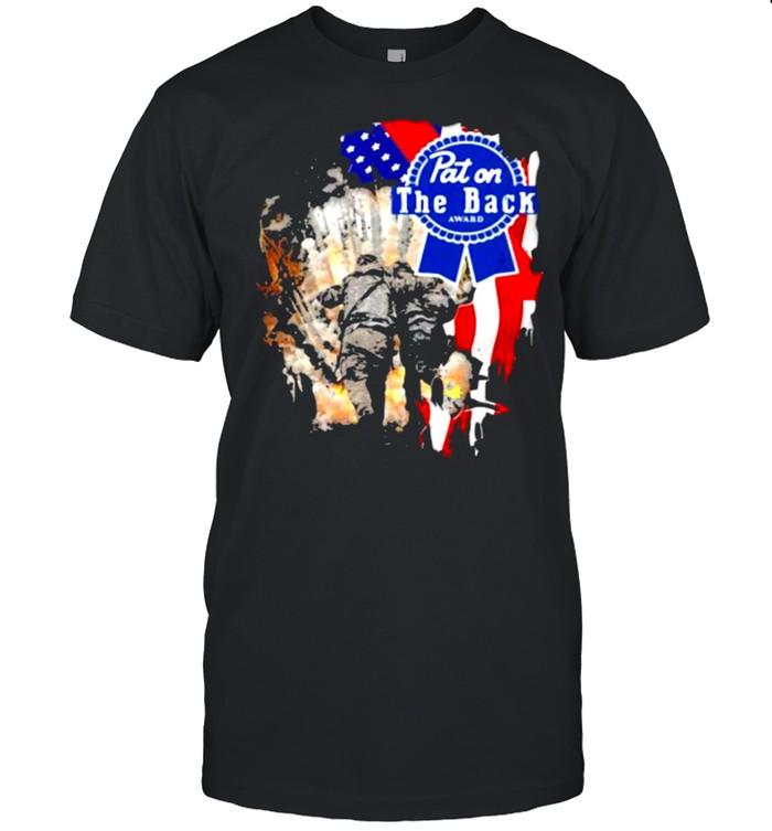 Veteran Pat On The Back American Flag  Classic Men's T-shirt