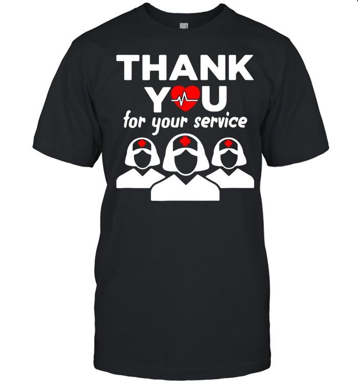 Thank You for your service registered nurse I love nurse shirt Classic Men's T-shirt