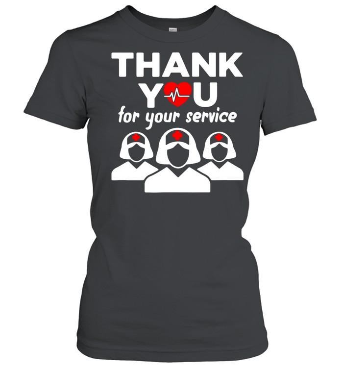Thank You for your service registered nurse I love nurse shirt Classic Women's T-shirt
