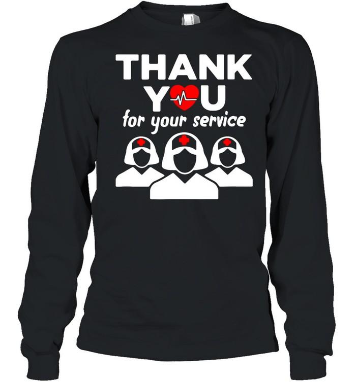 Thank You for your service registered nurse I love nurse shirt Long Sleeved T-shirt