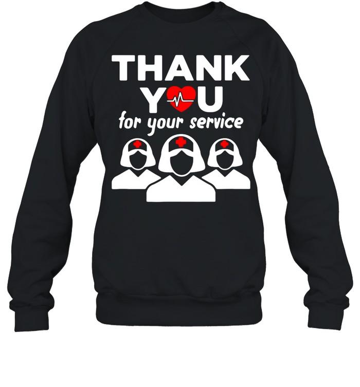 Thank You for your service registered nurse I love nurse shirt Unisex Sweatshirt