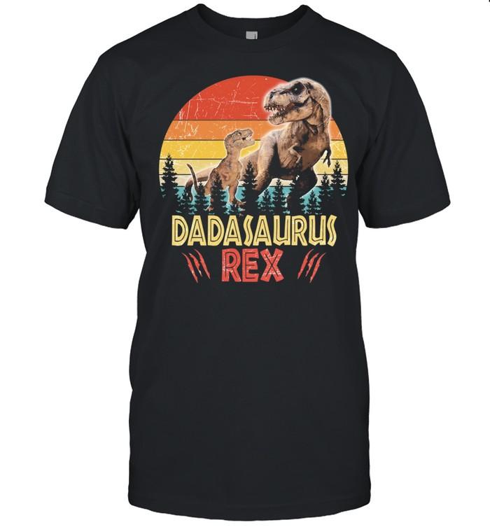 Dinosaur Daddysaurus rex vintage shirt Classic Men's T-shirt