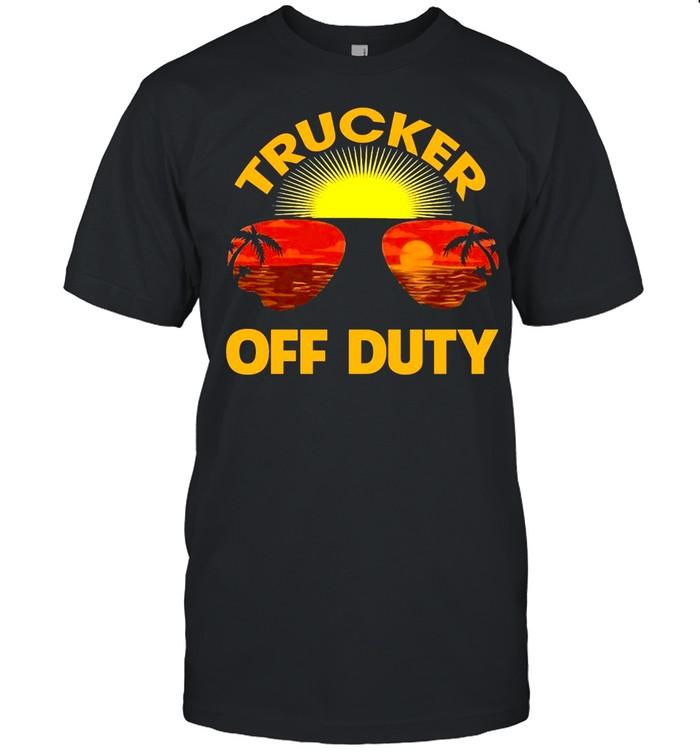 Summer Sunglasses Trucker Off Duty  Classic Men's T-shirt