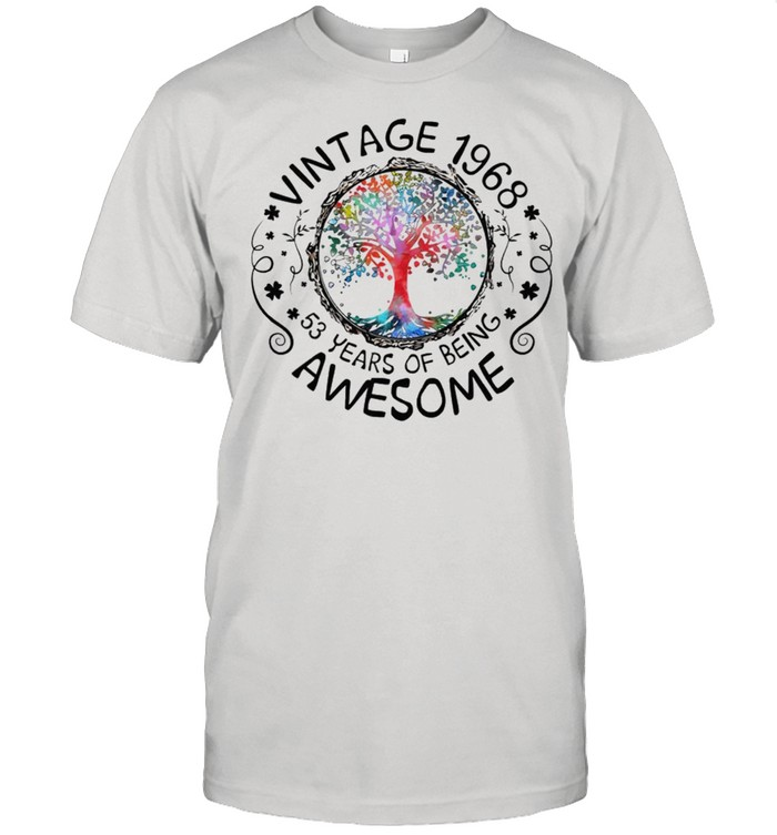 Vintage 1968 53 years of being awesome shirt Classic Men's T-shirt