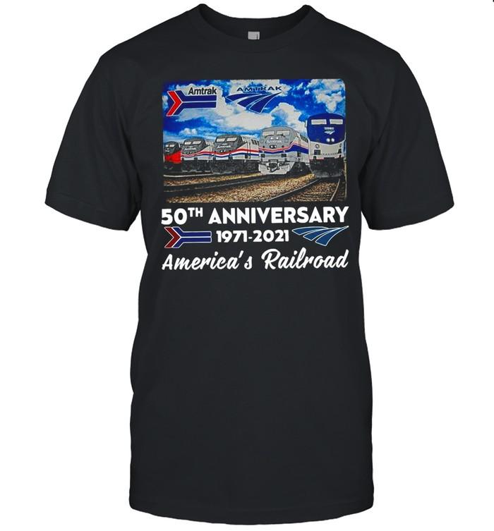 Amtrak 50th Anniversary 1971-2021 America's Railroad  Classic Men's T-shirt