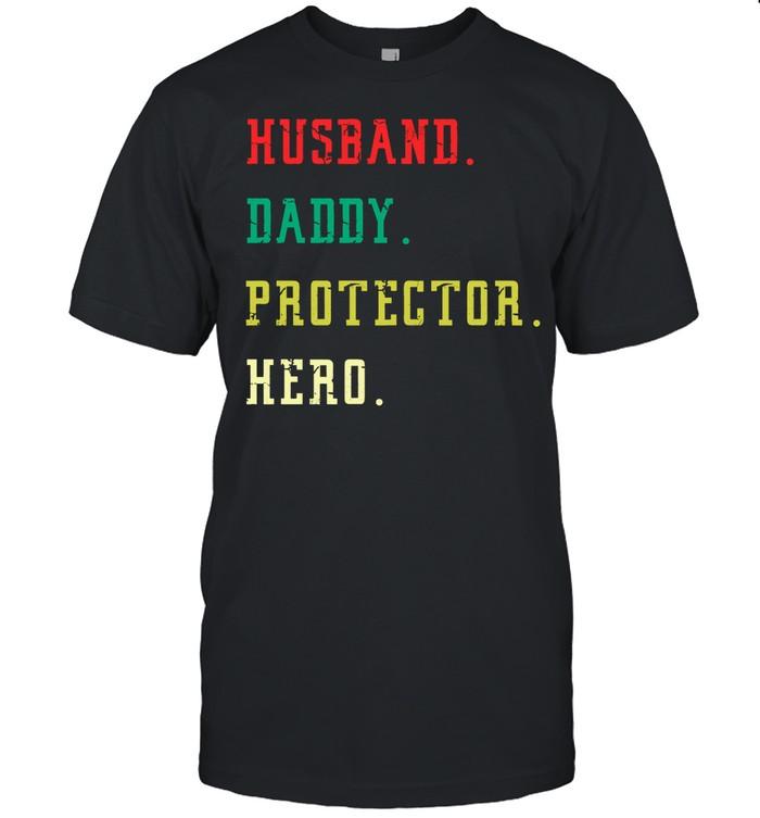 Husband Daddy protector hero shirt Classic Men's T-shirt