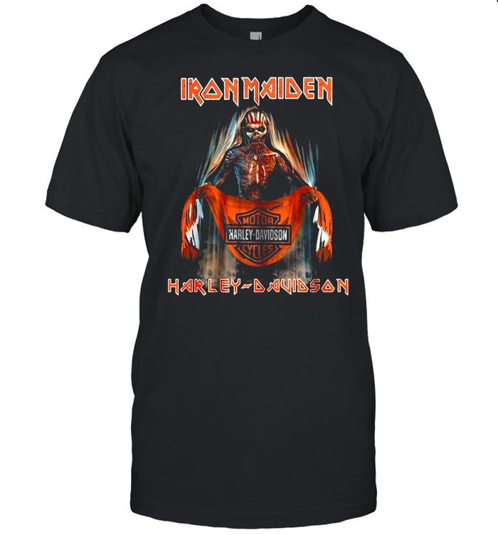 Iron Maiden Motor Harley Davidson Cycles shirt Classic Men's T-shirt