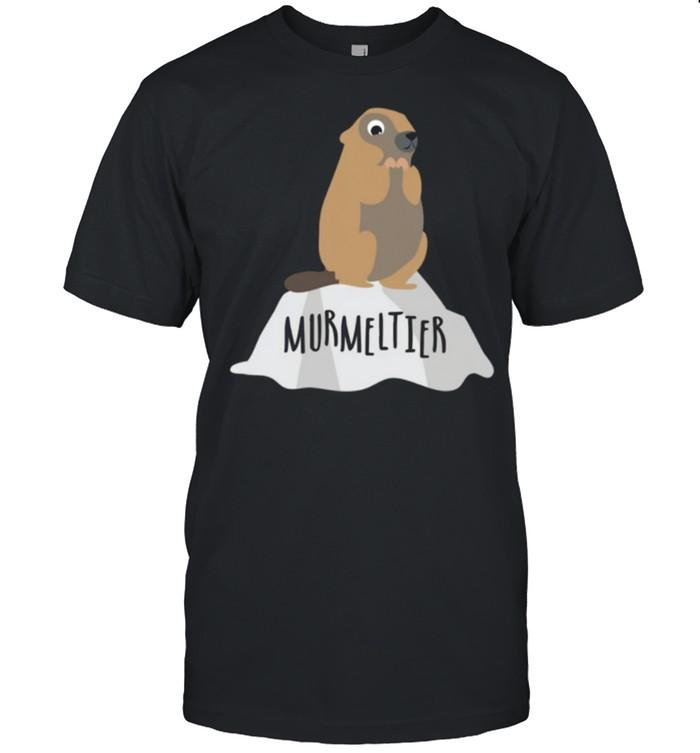 Murmeltier auf Felsen Berge Natur shirt Classic Men's T-shirt