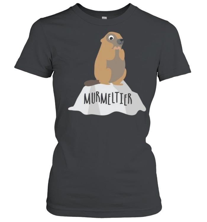 Murmeltier auf Felsen Berge Natur shirt Classic Women's T-shirt