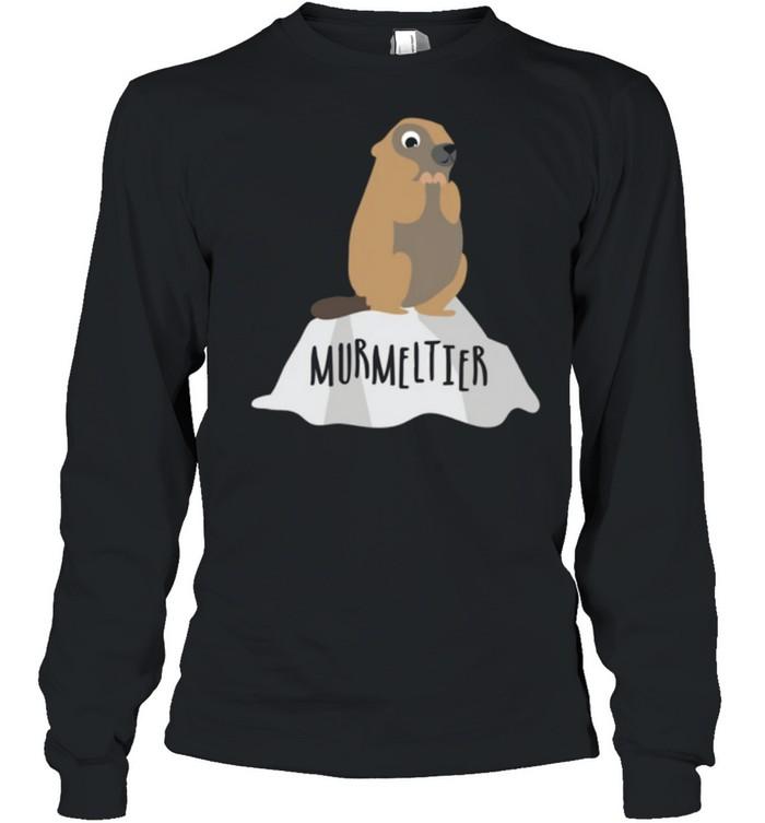 Murmeltier auf Felsen Berge Natur shirt Long Sleeved T-shirt