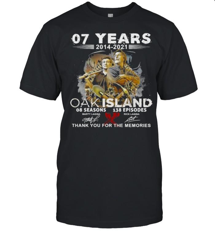 The curse of oak island 08 seasons 138 memories thank you for the memories shirt Classic Men's T-shirt