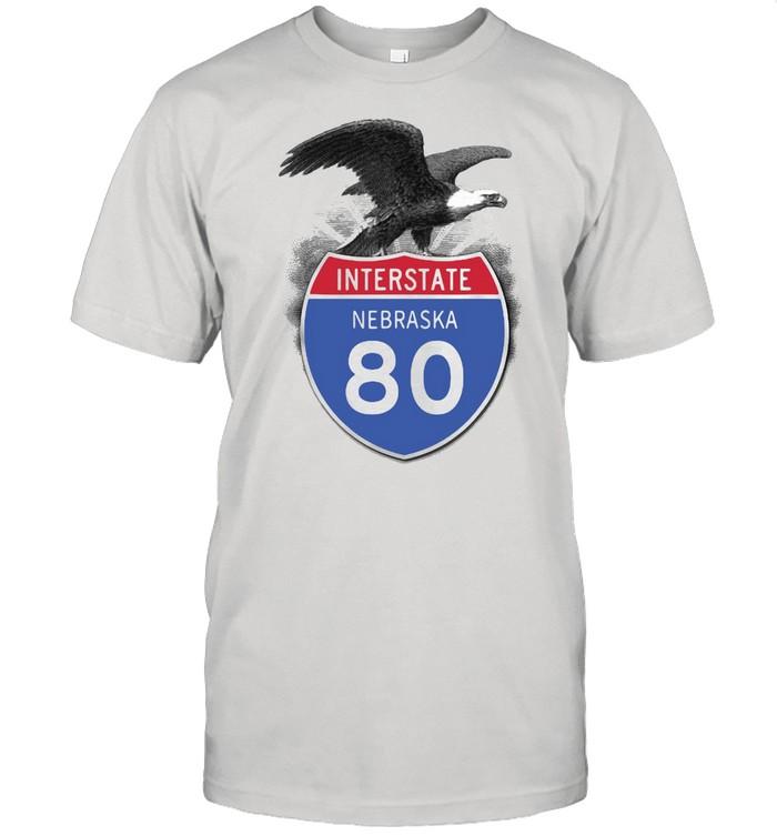 Eagle Interstate Nebraska 80 T-shirt Classic Men's T-shirt