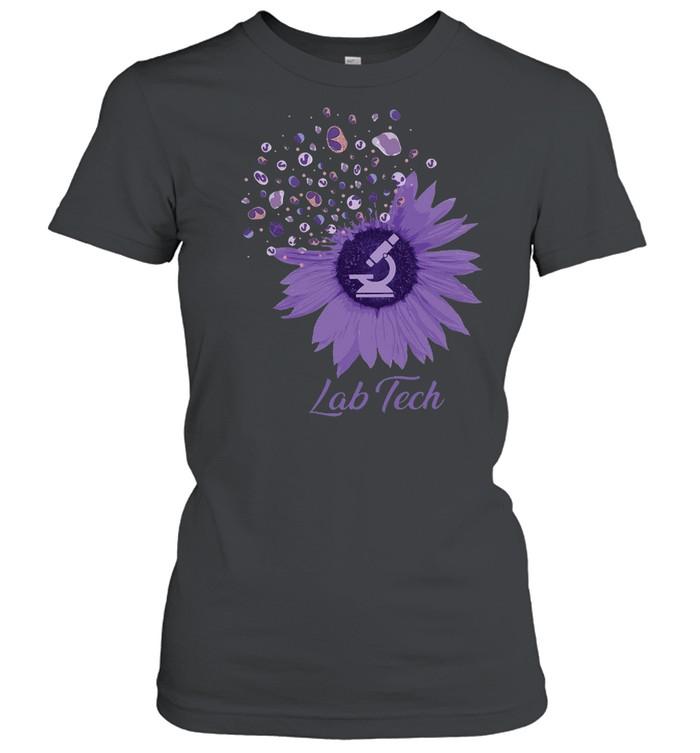 flower lab tech t shirt classic womens t shirt