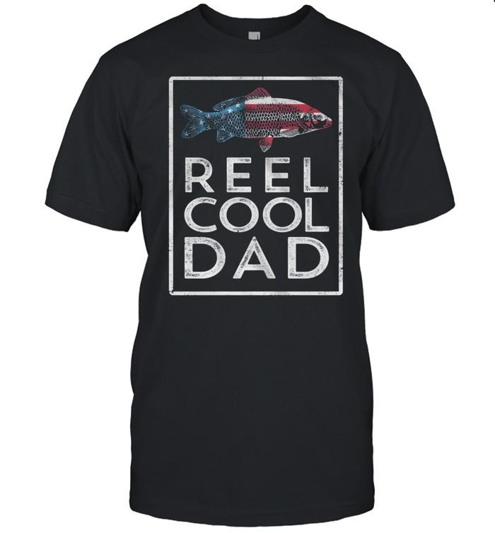 Reel Cool Dad Fish American Flag shirt Classic Men's T-shirt