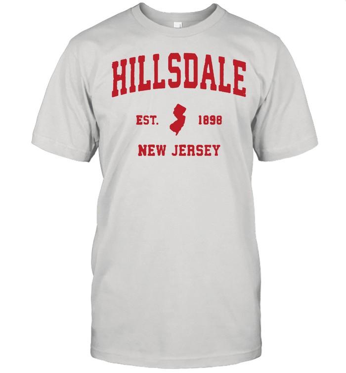Hillsdale New Jersey 1898 NJ Vintage Sports T- Classic Men's T-shirt