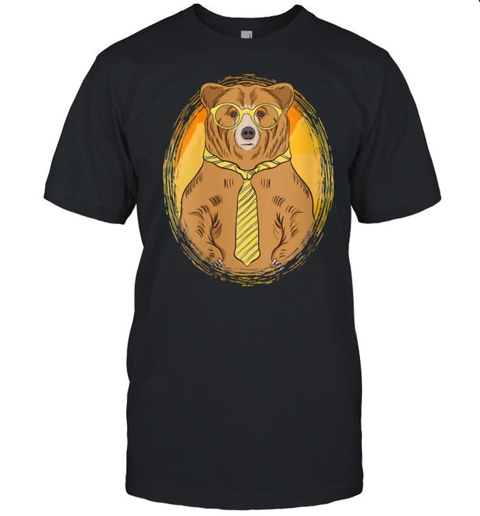Business Bear wearing Glasses and a Tie Bear shirt Classic Men's T-shirt