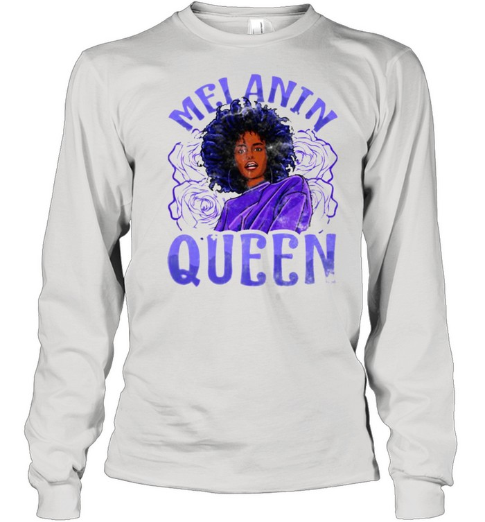 Melanin Queen Inspired Black Woman Related African T- Long Sleeved T-shirt