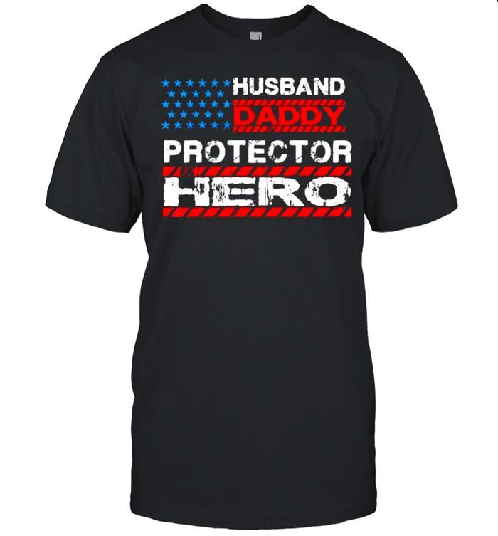 Husband Daddy Protector Hero  Classic Men's T-shirt