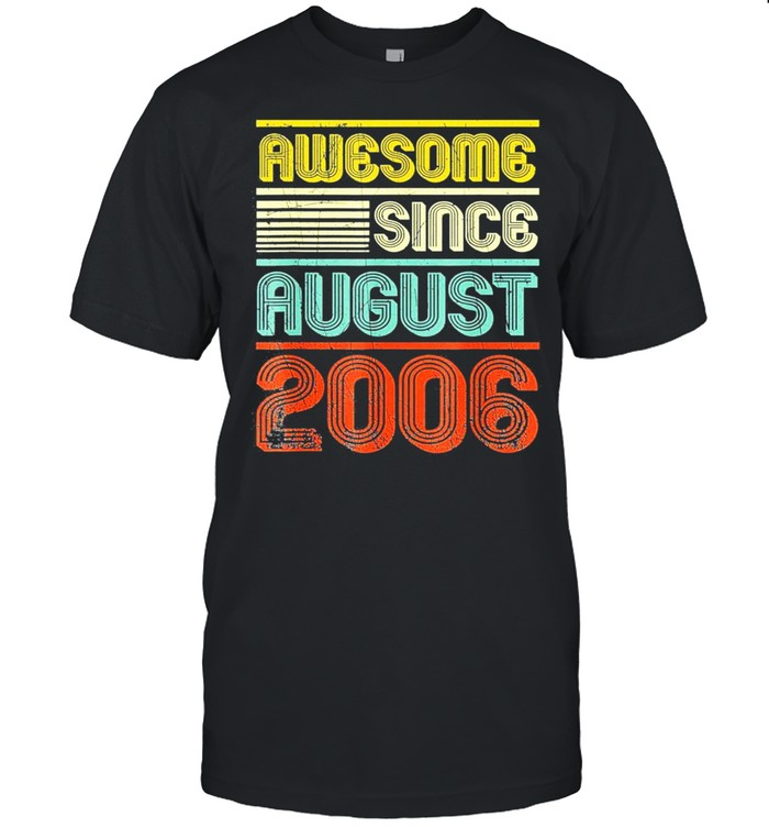 Awesome since august 2006 vintage 13th birthday shirt Classic Men's T-shirt