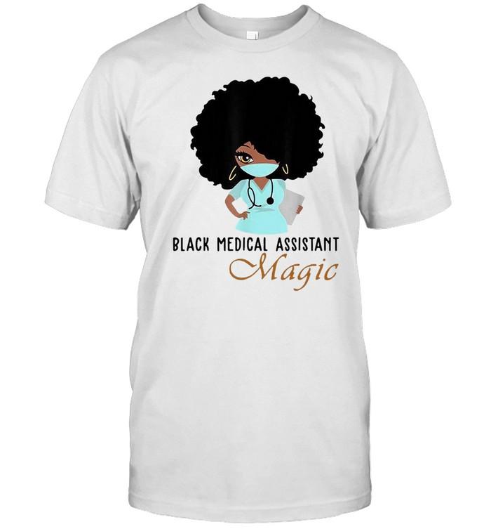 Nurse 2021 Black Medical Assistant Magic T-shirt Classic Men's T-shirt